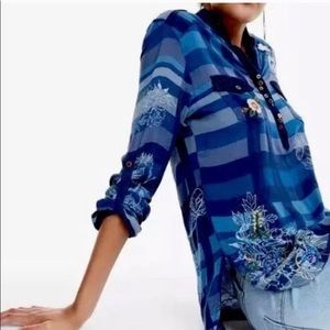 Desigual Button down Top. Size S. NWT.